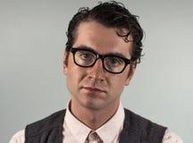 Uomo nerd di affari fotografia stock libera da diritti
