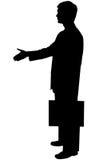 Uomo nero della siluetta su bianco Immagini Stock