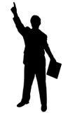 Uomo nero della siluetta su bianco Immagini Stock Libere da Diritti