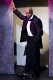 uomo nero di affari del successul in ritratto del vestito Immagine Stock