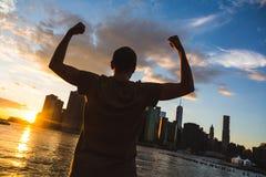 Uomo a New York Fotografia Stock Libera da Diritti