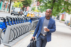 Uomo a New York Fotografie Stock