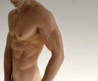 Uomo nudo Fotografia Stock
