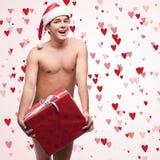 Uomo nudo divertente Fotografie Stock Libere da Diritti