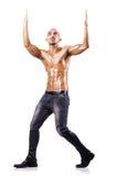 Uomo nudo isolato Fotografia Stock