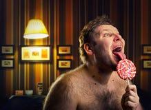 Uomo nudo pazzo immagini stock libere da diritti