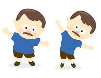 Uomo obeso prima e dopo 2 Immagini Stock