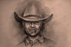 Uomo occidentale Fotografia Stock