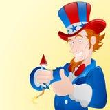 Uomo patriottico Fotografia Stock