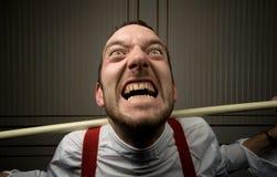 Uomo pazzesco Fotografia Stock