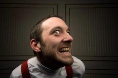 Uomo pazzo Fotografia Stock Libera da Diritti