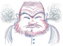 Uomo pazzo arrabbiato Fotografia Stock Libera da Diritti