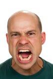 Uomo pazzo arrabbiato fotografia stock