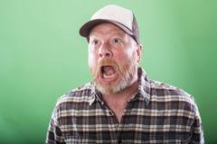 Uomo pazzo dell'agricoltore del Sud Fotografia Stock Libera da Diritti