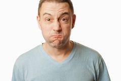 Uomo pazzo Upset Fotografie Stock Libere da Diritti