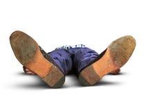 Uomo perso i sensi Fotografia Stock Libera da Diritti