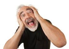Uomo più anziano di grido immagini stock