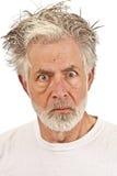 Uomo più anziano emozionale Fotografia Stock Libera da Diritti