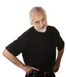 Uomo più anziano frustrato immagine stock