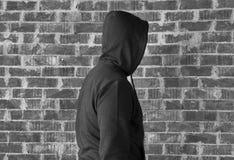 Uomo più sconosciuto, in bianco e nero immagine stock