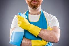 Uomo più pulito Fotografia Stock