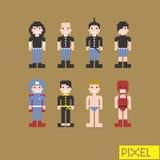 Uomo in pixel Fotografia Stock