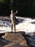 Uomo pointing2 di affari Fotografie Stock Libere da Diritti