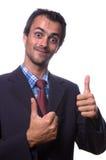 Uomo positivo Fotografie Stock Libere da Diritti