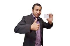 Uomo positivo di affari Immagine Stock