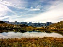 ` Uomo, Prali, Piemonte, Italia del dell di Lago Fotografia Stock Libera da Diritti