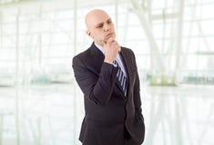 Uomo premuroso di affari Immagine Stock