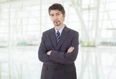 Uomo premuroso di affari fotografie stock libere da diritti