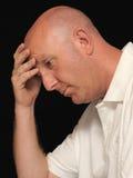 Uomo preoccupato Fotografia Stock