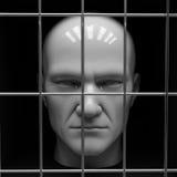 Uomo in prigione Fotografie Stock Libere da Diritti