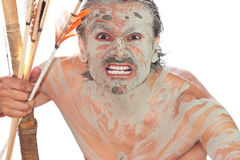 Uomo primitivo Fotografia Stock Libera da Diritti
