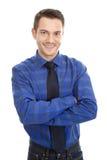 Uomo professionale amichevole - isolato su bianco Fotografia Stock