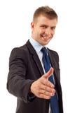 Uomo pronto a fissare un affare Fotografia Stock Libera da Diritti