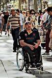 Uomo qualunque invalido Fotografie Stock