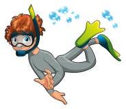 Uomo rana del bambino. Fotografie Stock Libere da Diritti