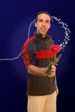 Uomo romantico Fotografie Stock