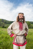 Uomo russo con la fisarmonica, agricoltore del Sud Fotografia Stock Libera da Diritti