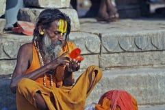 Uomo santo indiano Fotografia Stock Libera da Diritti