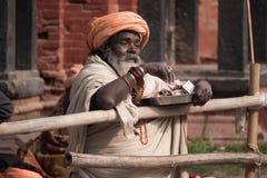 Uomo santo nepalese Immagini Stock Libere da Diritti