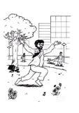 Uomo scalzo felice di affari (2007) Immagini Stock