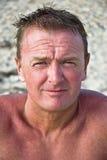 Uomo scolorito al sole. Fotografia Stock