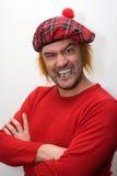 Uomo scozzese arrabbiato Fotografia Stock Libera da Diritti