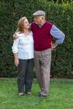 Uomo senior e donna senior che fanno un autoritratto Immagine Stock
