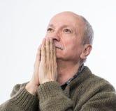 Uomo senior religioso Immagini Stock