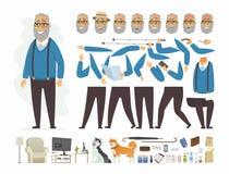 Uomo senior - vector il costruttore del carattere della gente del fumetto royalty illustrazione gratis
