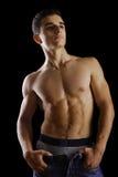 Uomo senza camicia Immagini Stock